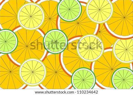 citrus texture - stock vector