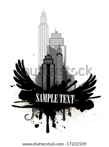 City abstraction - stock vector
