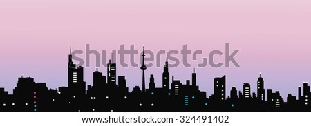 City at Evening