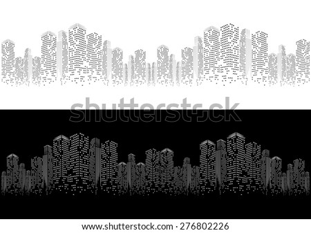 city background - stock vector