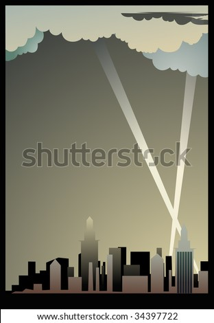 City background. An additional format of EPS - stock vector