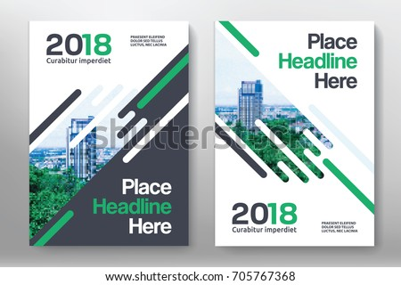 City Background Business Book Cover Design Stock Vector