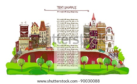 City background with space for text - stock vector