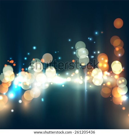 City bokeh background. Vector image.