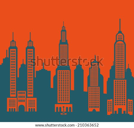 city buildings - stock vector