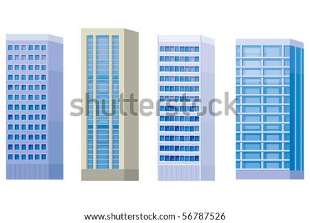 City buildings - stock vector