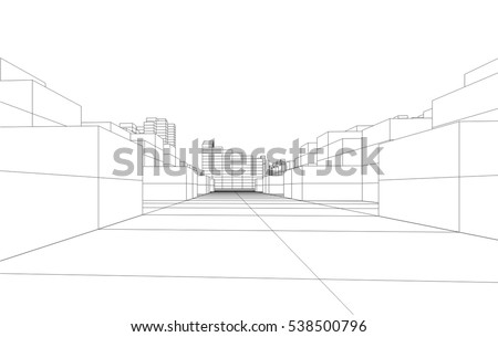 Architectural Drawing Building building line drawing stock images, royalty-free images & vectors