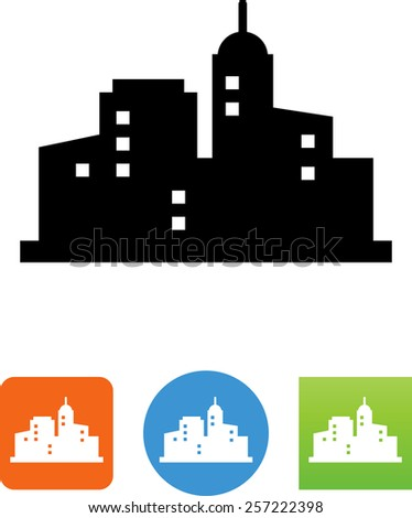 city buildings icon stock vector 257222398 shutterstock rh shutterstock com vector building free vector building blocks