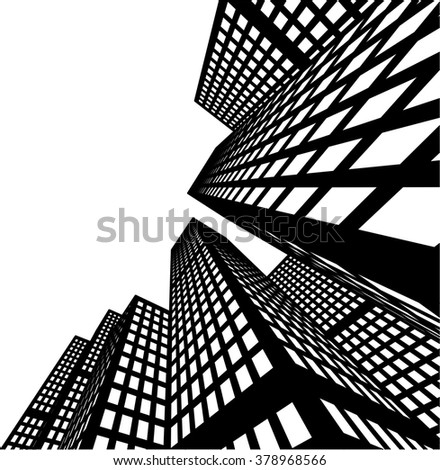 city buildings illustration - stock vector