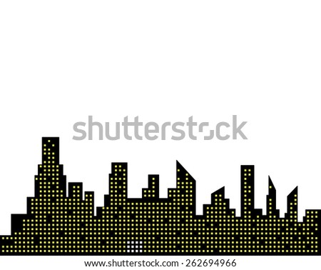 city buildings silhouette