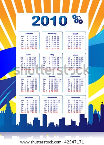City Calendar - stock vector
