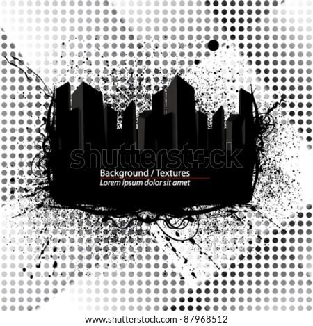 city frame illustration - stock vector