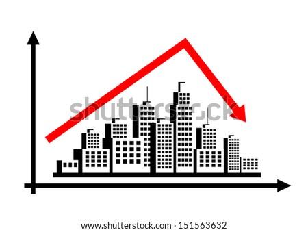 City graph - stock vector