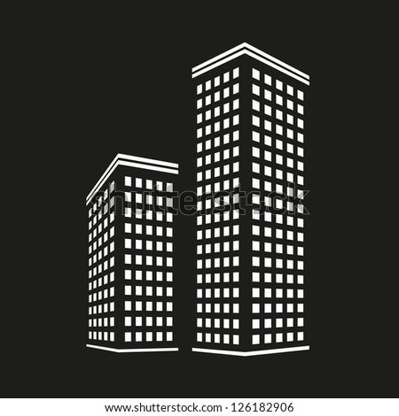 City icon - stock vector