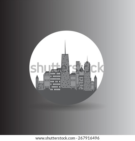 City Icon Vector Illustration EPS10 - stock vector