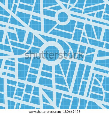City map blueprint vector seamless pattern stock vector 180669428 city map blueprint vector seamless pattern roads navigation gps simple design malvernweather Images