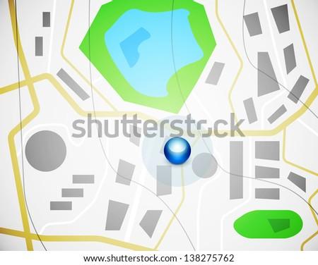 City map design - stock vector