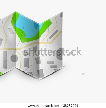 City map page with copyspace - stock vector