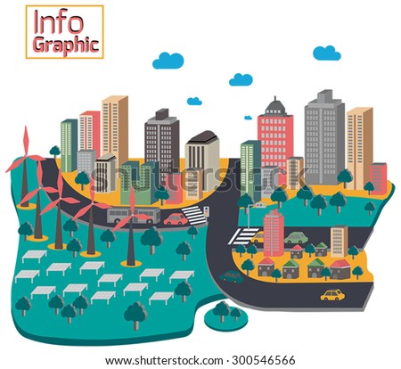 World Pollution Environment Infographic Template Map Stock Vector ...