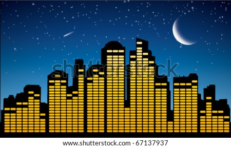 City of music - stock vector
