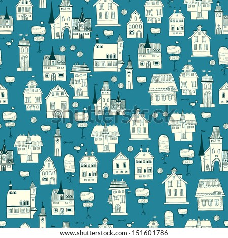 City pattern background. - stock vector