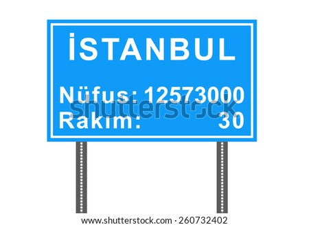 City Sign Vector - Istanbul, Turkey - stock vector