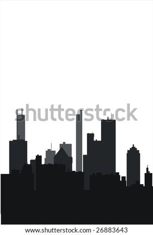 CITY SKYLINE. - stock vector