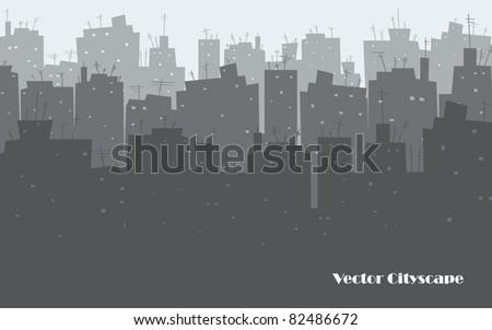 City Skyline vector - stock vector