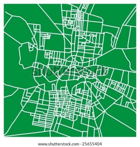 City street map - vector background - stock vector