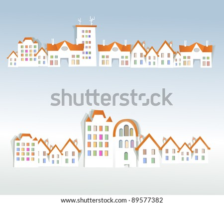 City streets background - stock vector