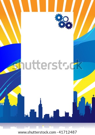 City Text Template - stock vector