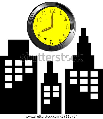 city time - stock vector