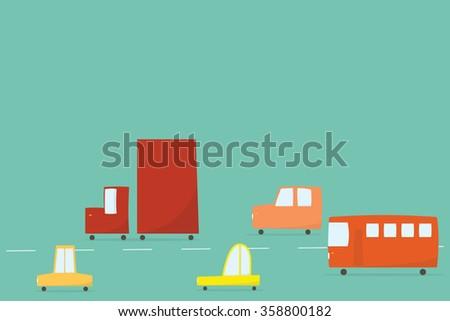 City traffic - stock vector