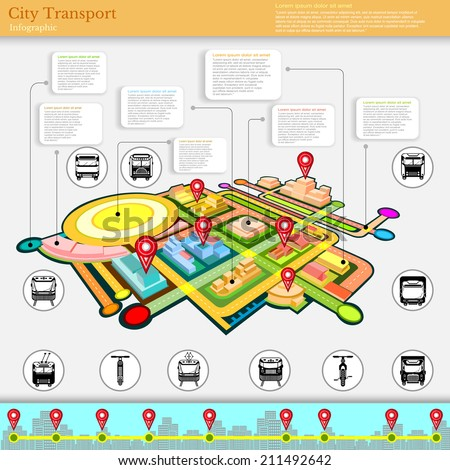 city transport infographic - stock vector
