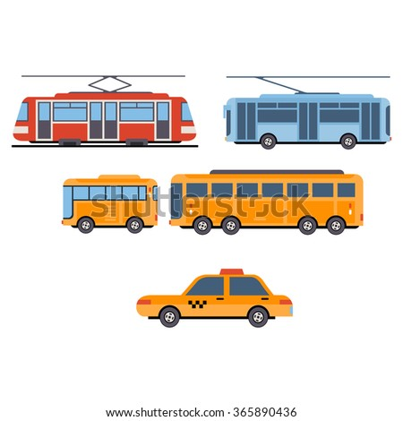 City Transport. Vector Set - stock vector