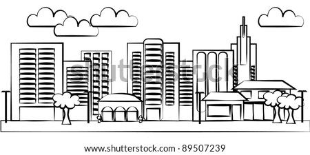 City vector - stock vector