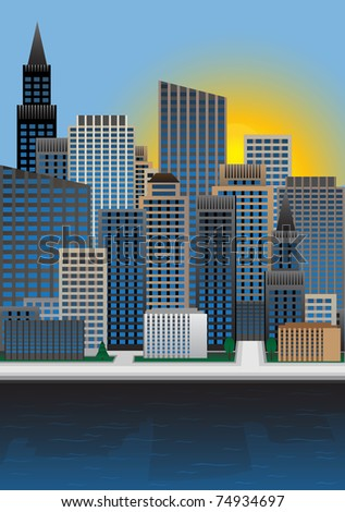 City. Vector illustration - stock vector