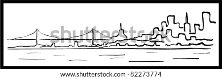 city vector landscape - stock vector