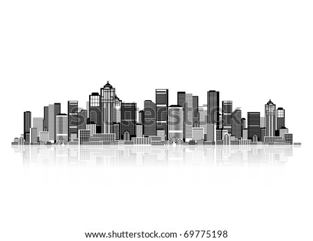 Cityscape background for your design, urban art - stock vector