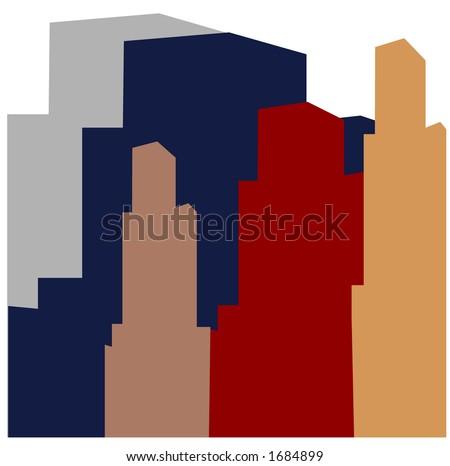 cityscape silhouette - stock vector