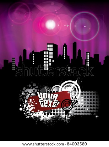 Cityscape Skyline - Vector Illustration. - stock vector