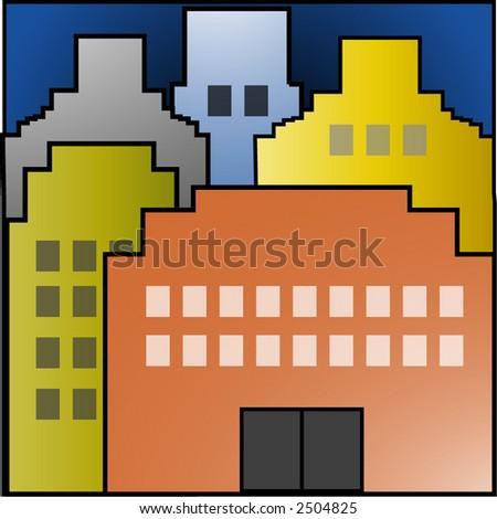cityscape #2 vector - stock vector