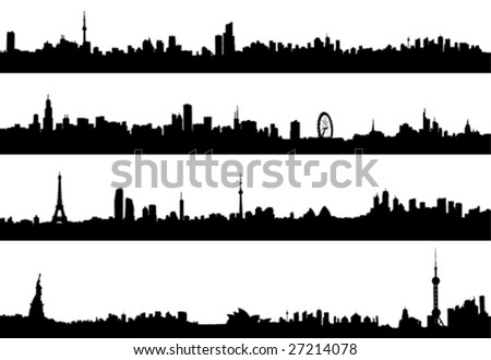 cityscape vector illustration - stock vector