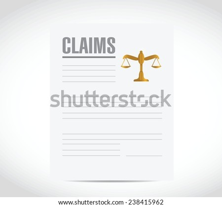 claim contract document illustration design over a white background - stock vector