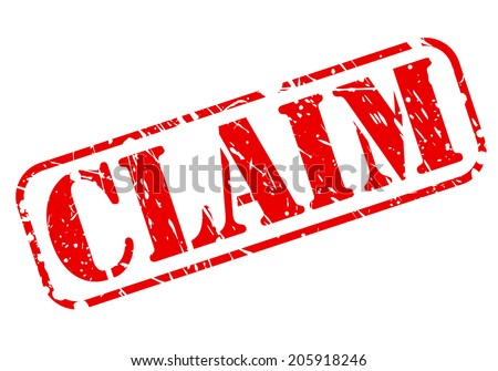 CLAIM red stamp text on white - stock vector