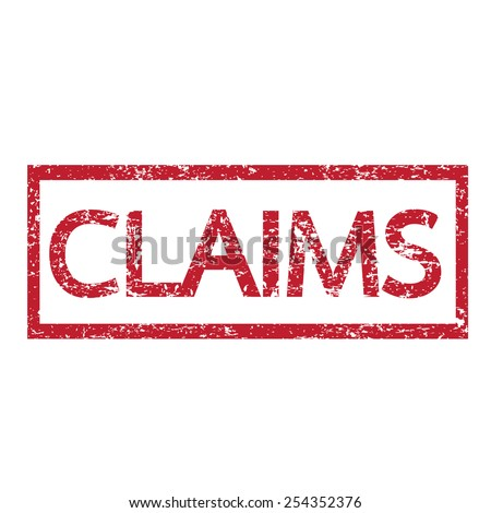 Claims text  - stock vector