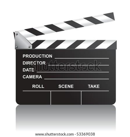 clap board - stock vector