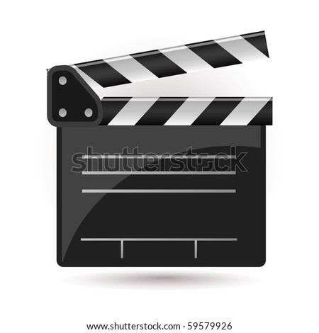clapboard icon - stock vector