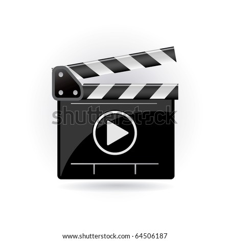clapper board - stock vector