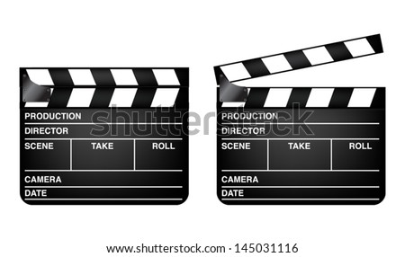 Clapper Board  vector icons design. - stock vector
